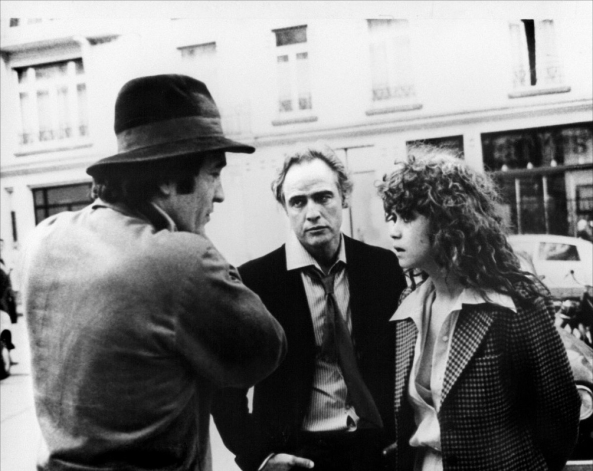 Bernardo Bertolucci, Marlon Brando et Maria Schneider sur le tournage du Dernier Tango à Paris