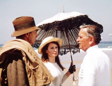 Robert Mitchum, Sarah Miles et David Lean sur le tournage de La Fille de Ryan