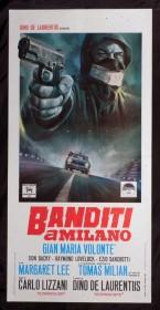 Affiche italienne de Bandits à MIlan