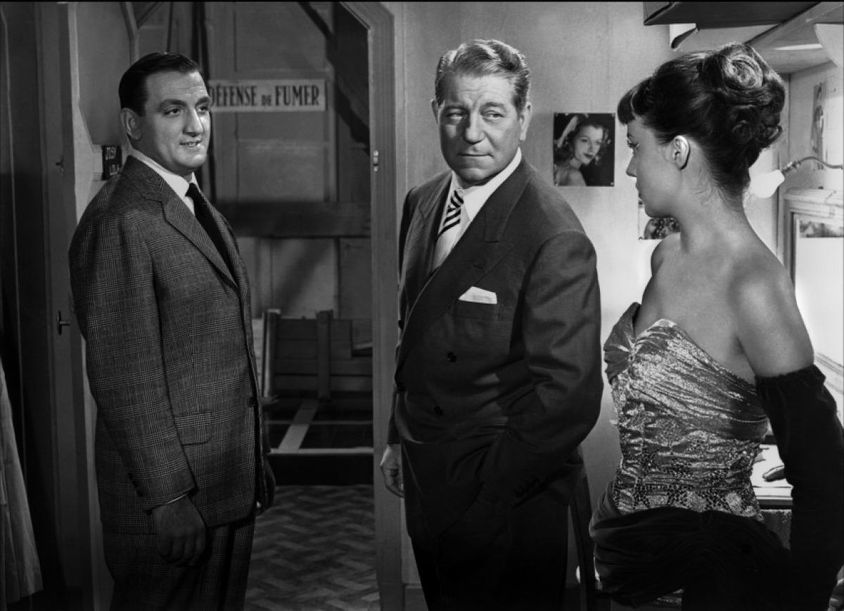 Lino Ventura, Jean Gabin et Jeanne Moreau