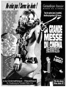 Affiche pour le cinéma bis réalisée par Christophe Barathon dans les années 90