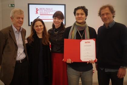 André de Margerie, Annamaria Lodato (ARTE International), Ana Vilgelmi, Emir Baigazin, Rémi Burah (ARTE France Cinéma)