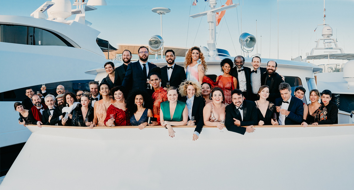 Toute l'équipe du film Bacurau © Bertrand Noël