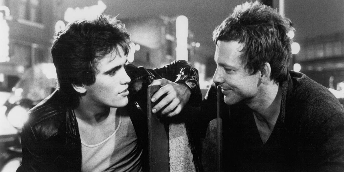 Matt Dillon et Mickey Rourke dans Rusty James de Francis Ford Coppola