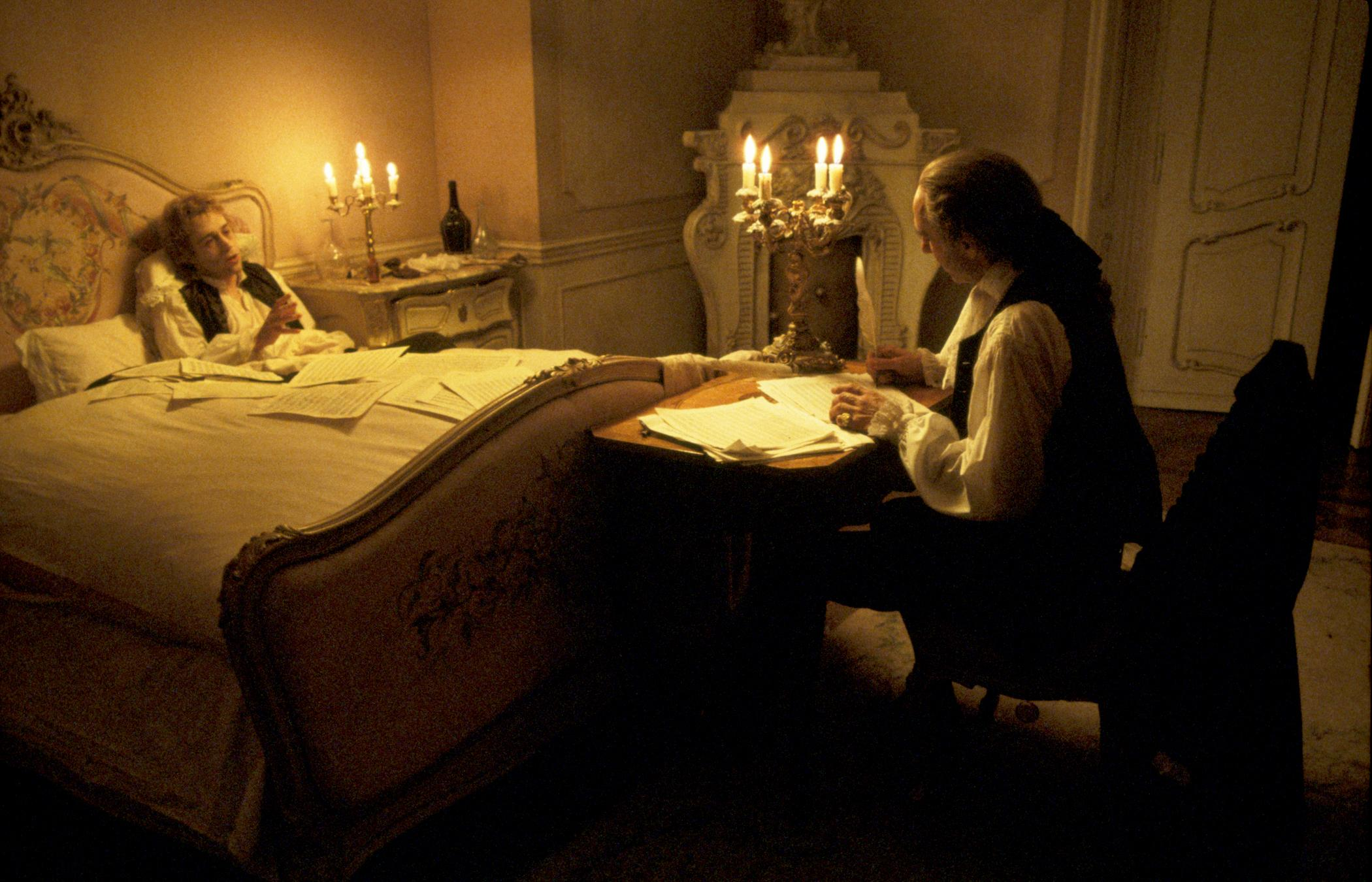 Mozart (Tom Hulce) et Salieri (F. Murray Abraham)