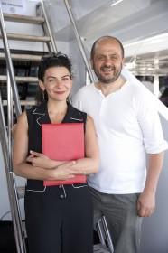 Nora Martirosyan et son producteur Dan Burlac © Paul Blind