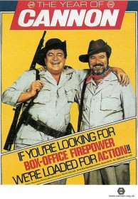 M. Golan et Y. Globus sur une affiche publicitaire de la Cannon