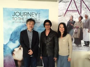 Kiyoshi Kurosawa, Etsuko Ichihara et Naomi Kawase à Cannes