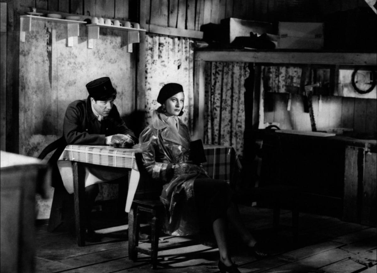 Jean Gabin et Michèle Morgan dans Le Quai des brumes