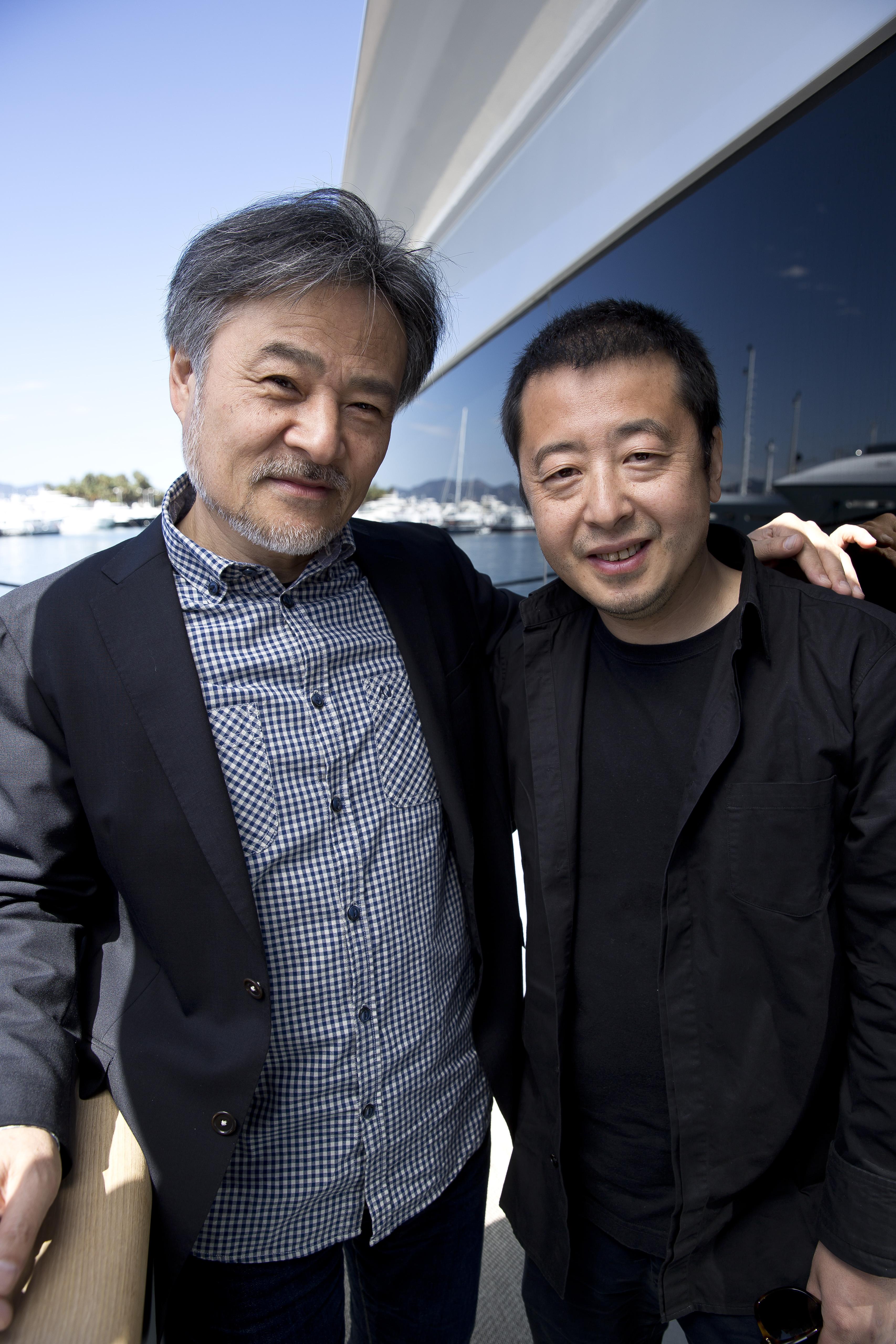 K. Kurosawa et Jia Zhangke par Paul Blind, Cannes 2015
