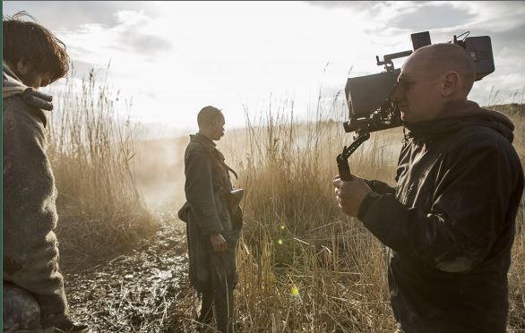 Damien Odoul sur le tournage de La Peur