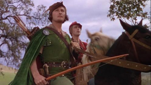 Errol Flynn dans le rôle de Robin des Bois