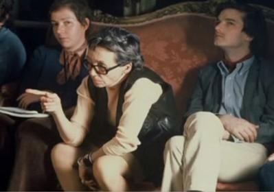 Marguerite Duras et Benoit Jacquot sur le tournage de India Song