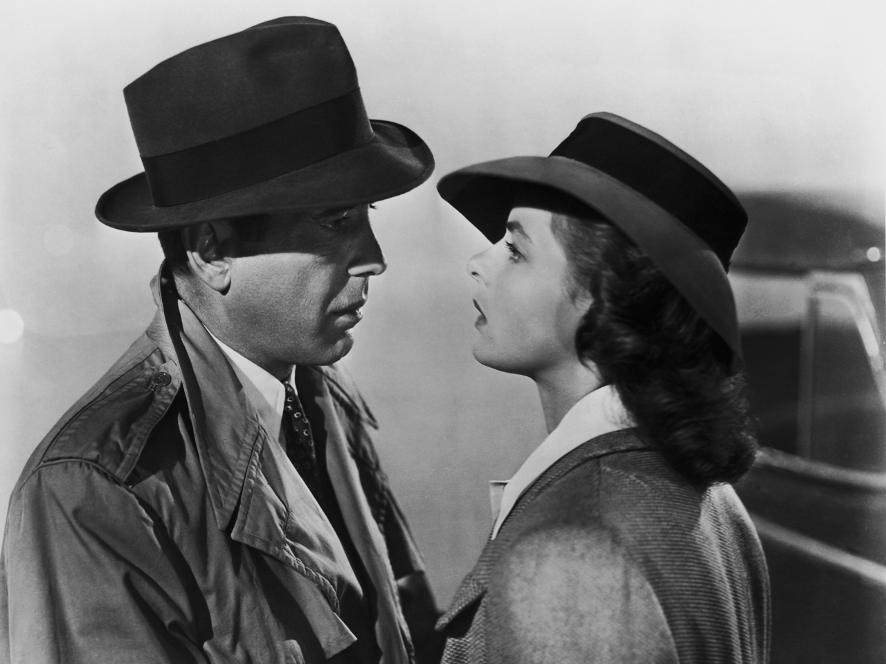 Humphrey Bogart et Ingrid Bergman dans Casablanca