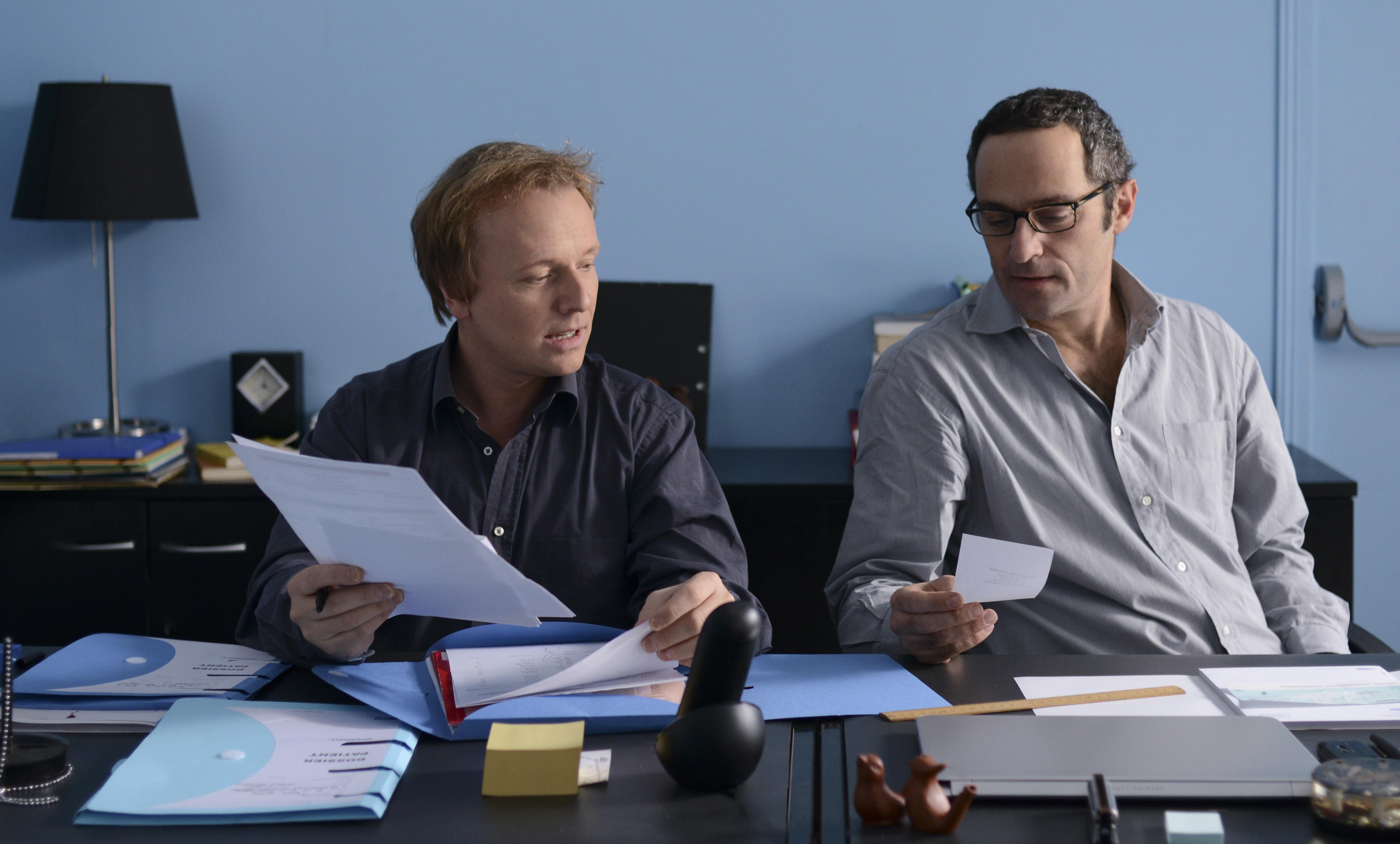 Laurent Stocker et Cédric Kahn dans Tirez la langue, mademoiselle