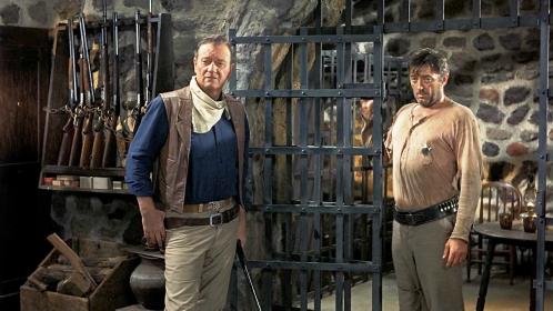 John Wayne et Robert Mitchum dans el Dorado de Howard Hawks