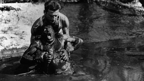 Yves Montand et Charles Vanel dans Le Salaire de la peur