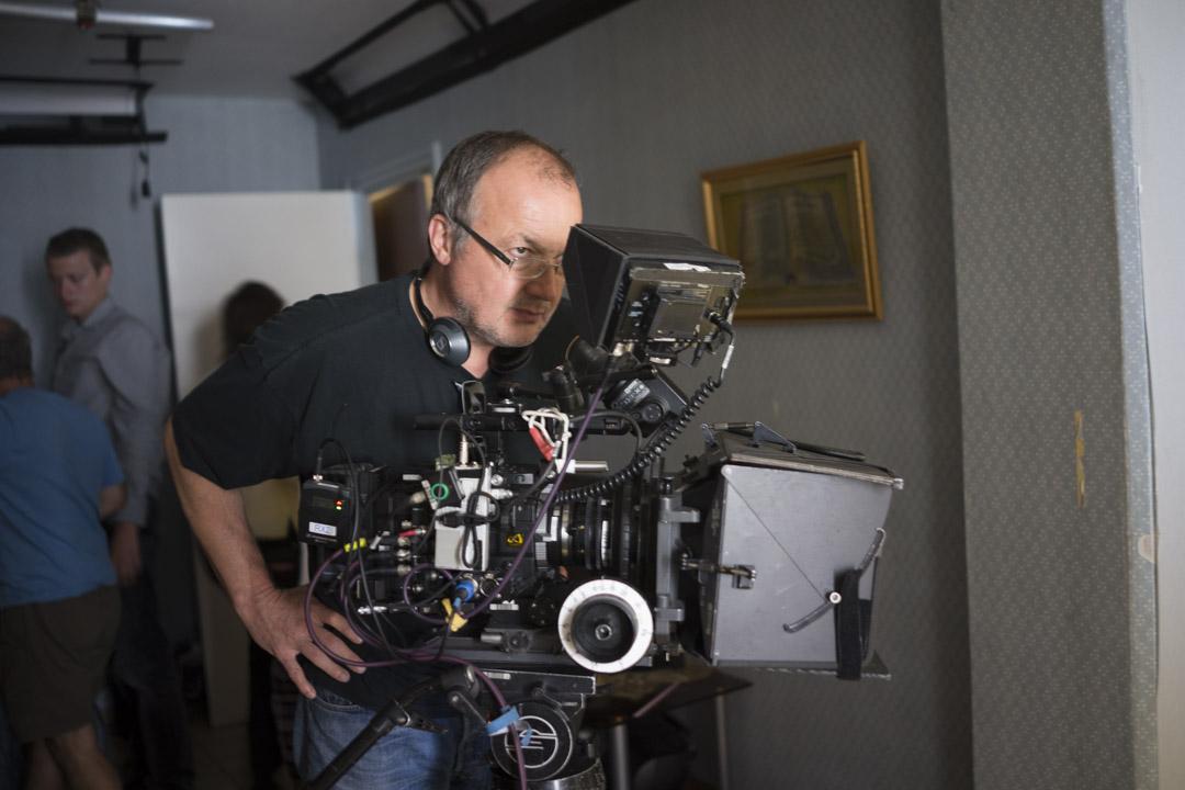 Philippe Faucon sur le tournage de Fatima