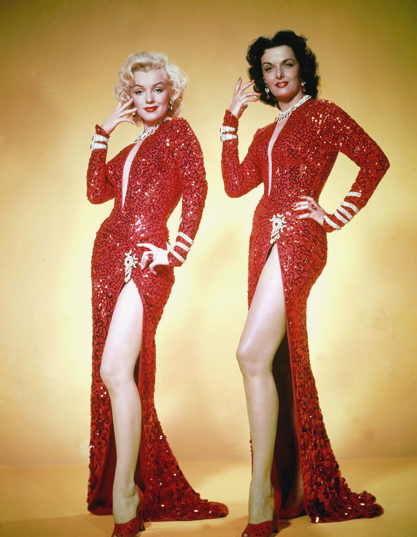 Marilyn Monroe et Jane Russell dans Les hommes préfèrent les blondes de Howard Hawks © Twentieth Century Fox Film Corporation
