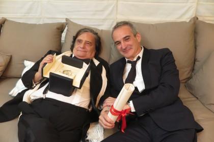 Jean-Pierre Léaud Palme d'or d'honneur du 69ème Festival de Cannes et Olivier Assayas © ARTE France Cinéma