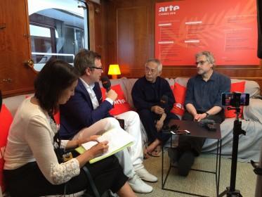 avec et Michael Dudok de Wit (La Tortue rouge) sur le bateau d'ARTE