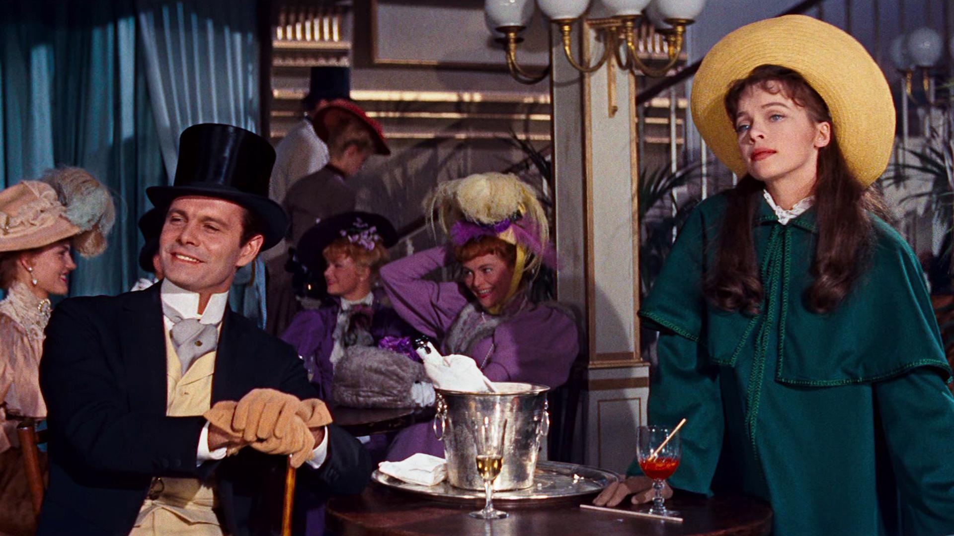 Louis Jourdan et Leslie Caron dans Gigi