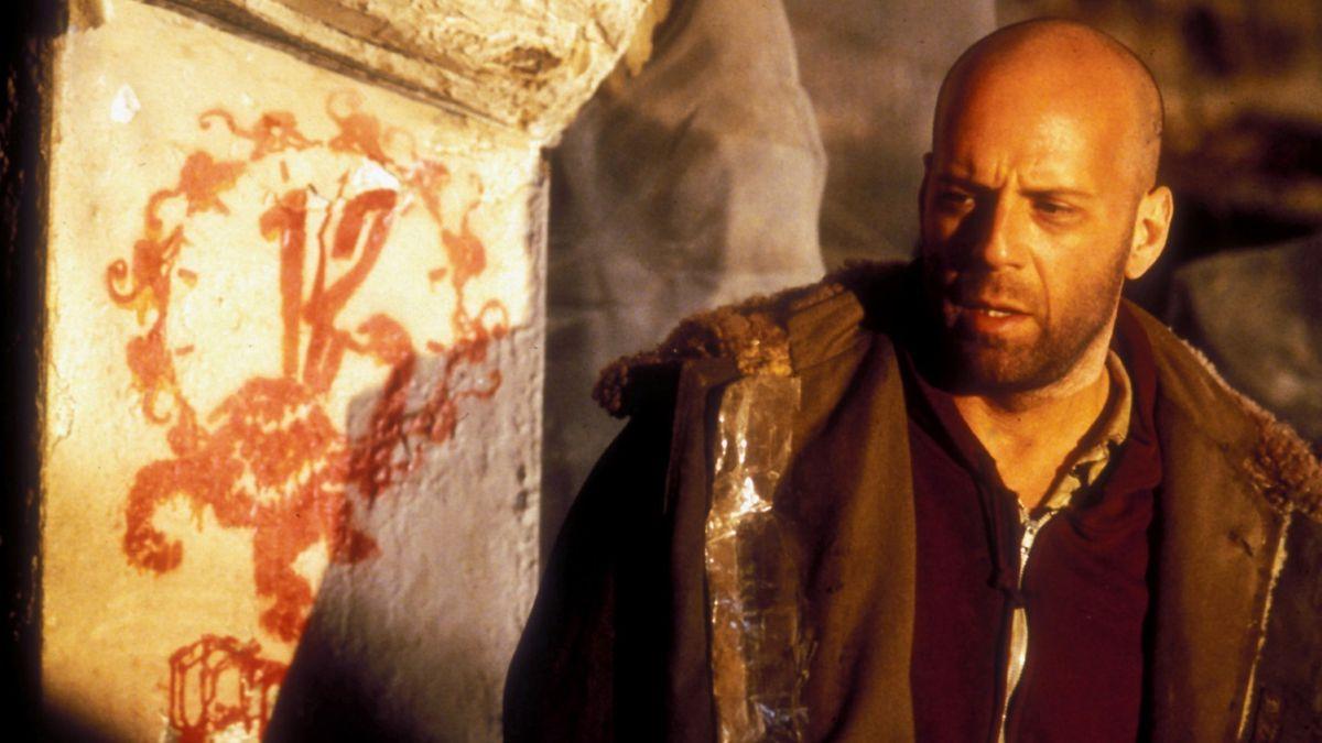 Bruce Willis dans L'Armée des douze singes de Terry Gilliam