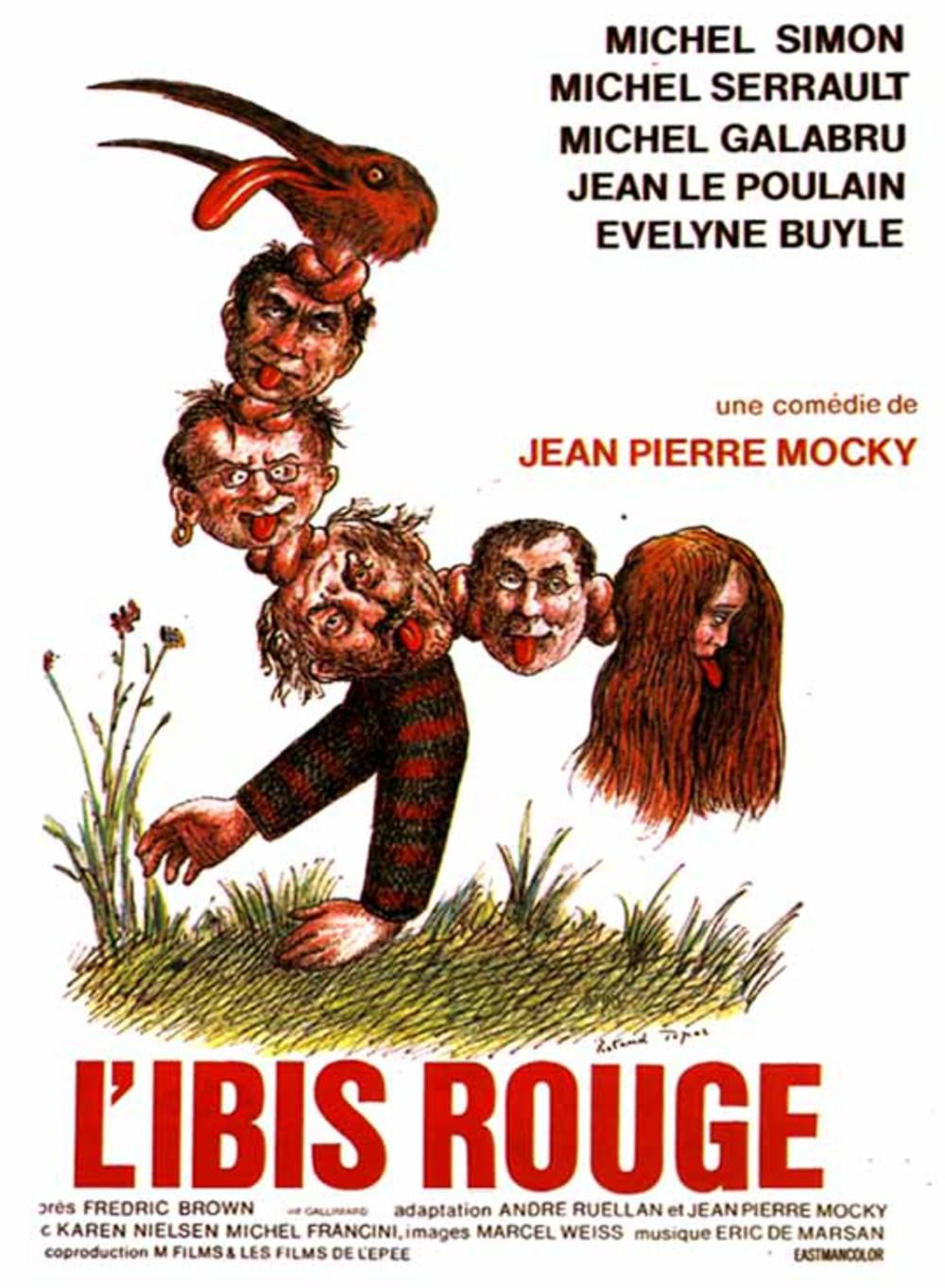 L'affiche de L'Ibis rouge signée Roland Topor