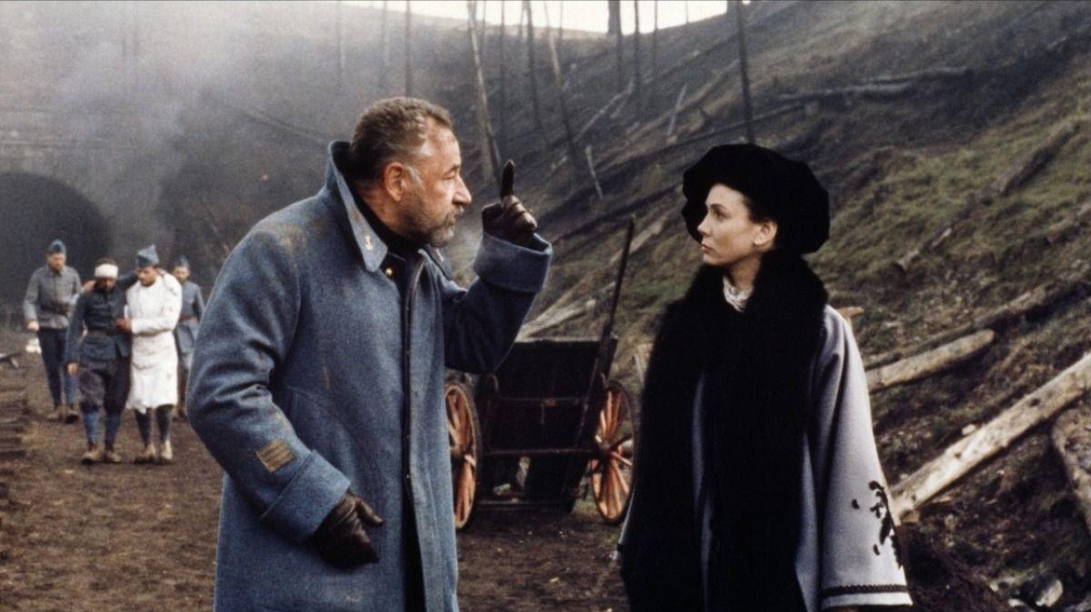 Philippe Noiret et Sabine Azéma dans La vie et rien d'autre de Bertrand Tavernier
