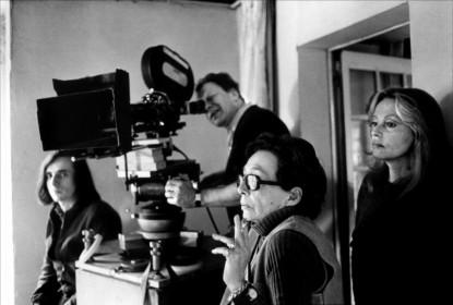 Marguerite Duras et Jeanne Moreau sur le tournage de Nathalie Granger
