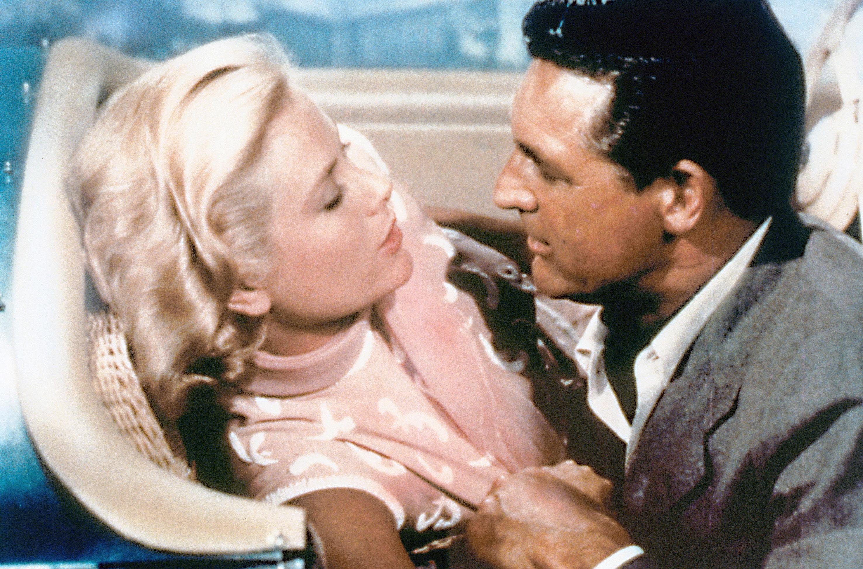 Grace Kelly et Cary Grant dans La Main au collet de Alfred Hitchcock