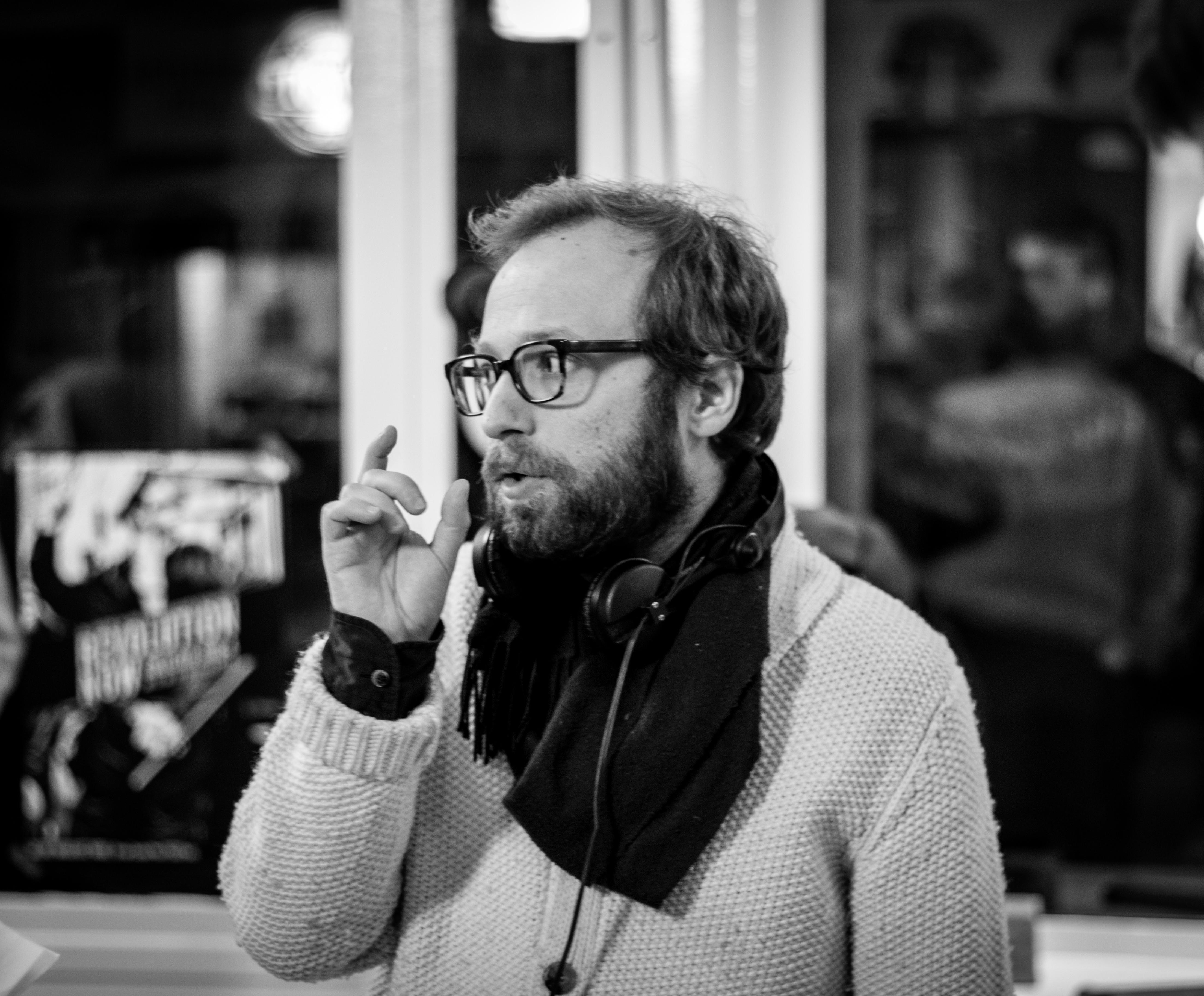 Nicolas Pariser sur le tournage de son film Le Grand Jeu © Bertrand Noël