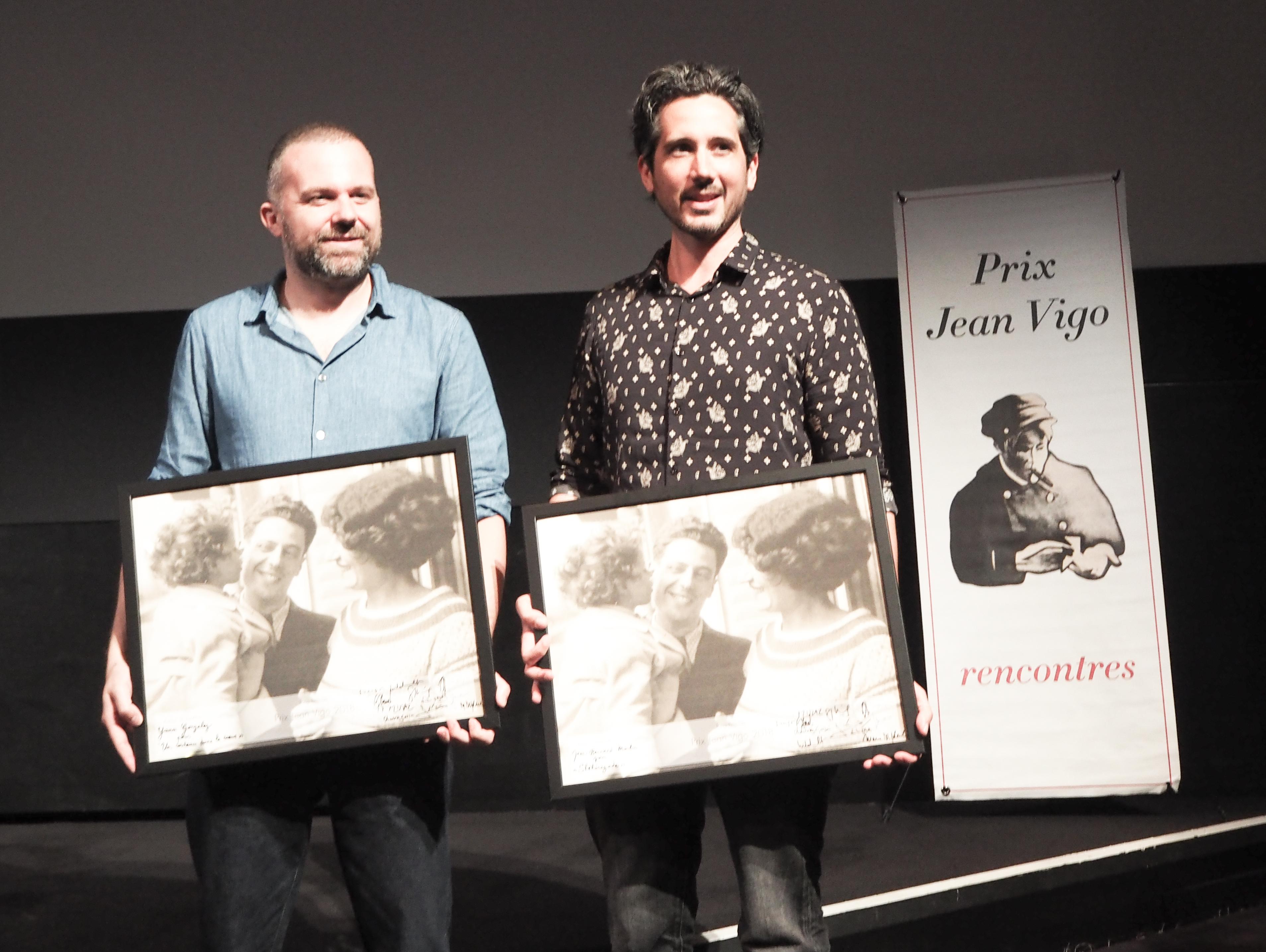 Yann Gonzalez et Jean-Bernard Marlin lauréats du Prix Jean Vigo 2018 © Alain Keit