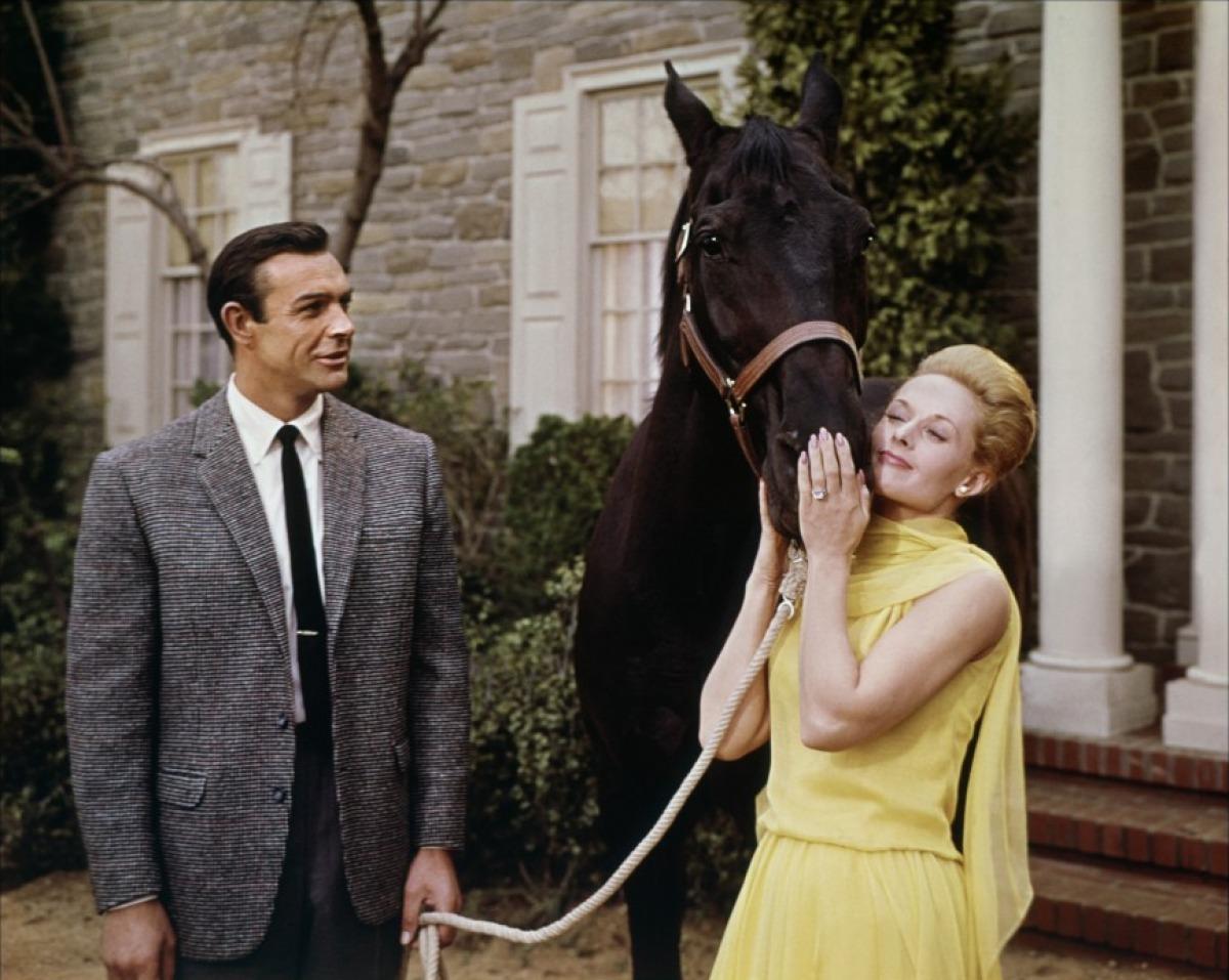 Sean Connery et Tippi Hedren dans Pas de printemps pour Marnie