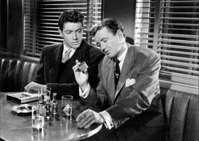 Farley Granger et Robert Walker dans L'Inconnu du Nord Express de Alfred Hitchcock