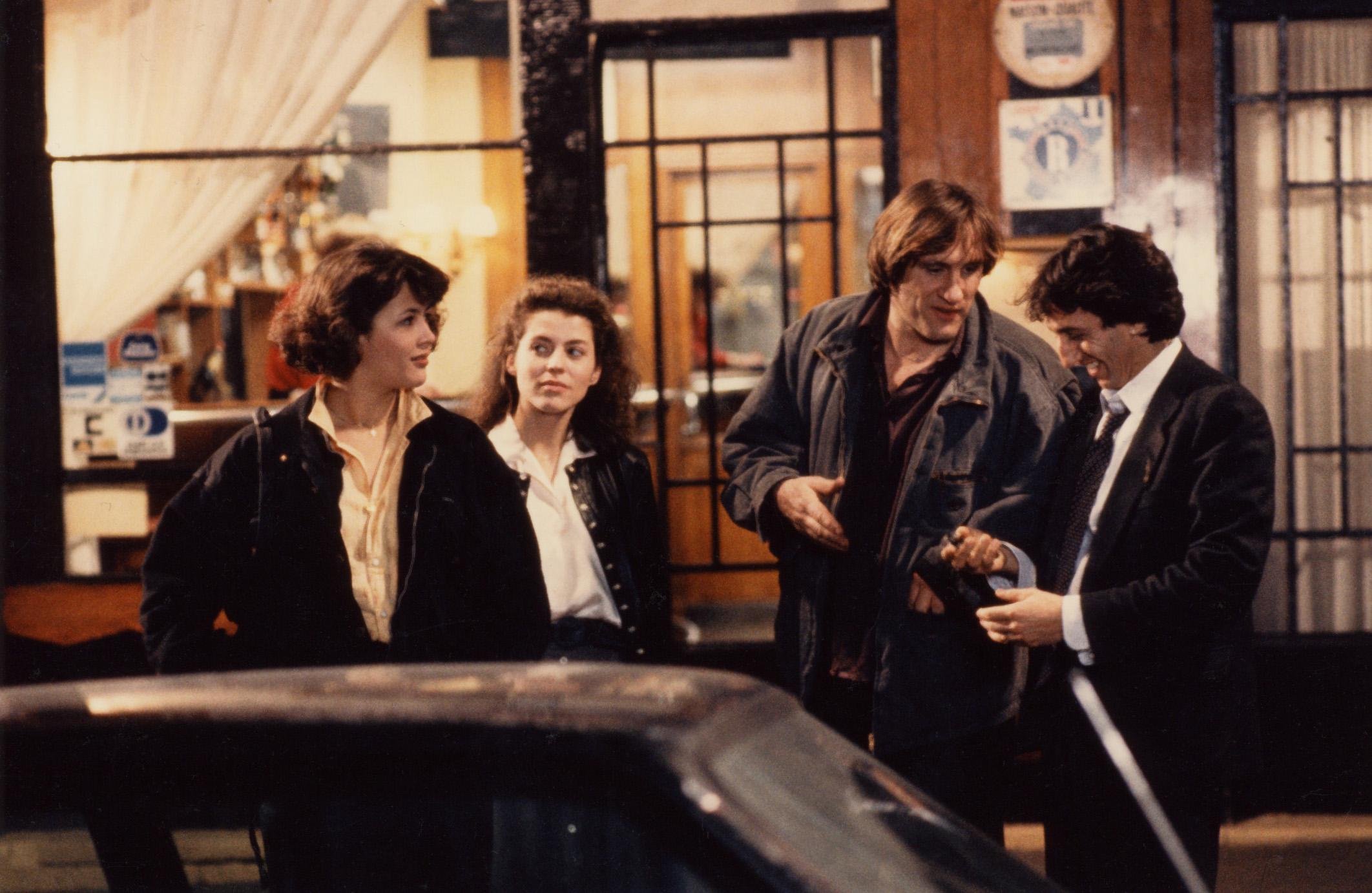 Sophie Marceau, Pascale Rocard, Gérard Depardieu et Richard Anconina dans Police