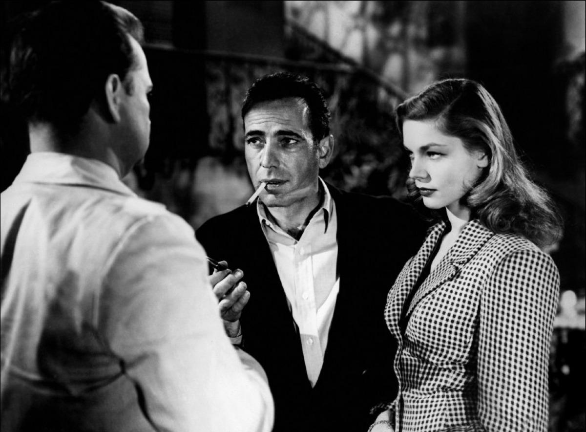 Humphrey Bogart et Lauren Bacall dans Le Port de l'angoisse