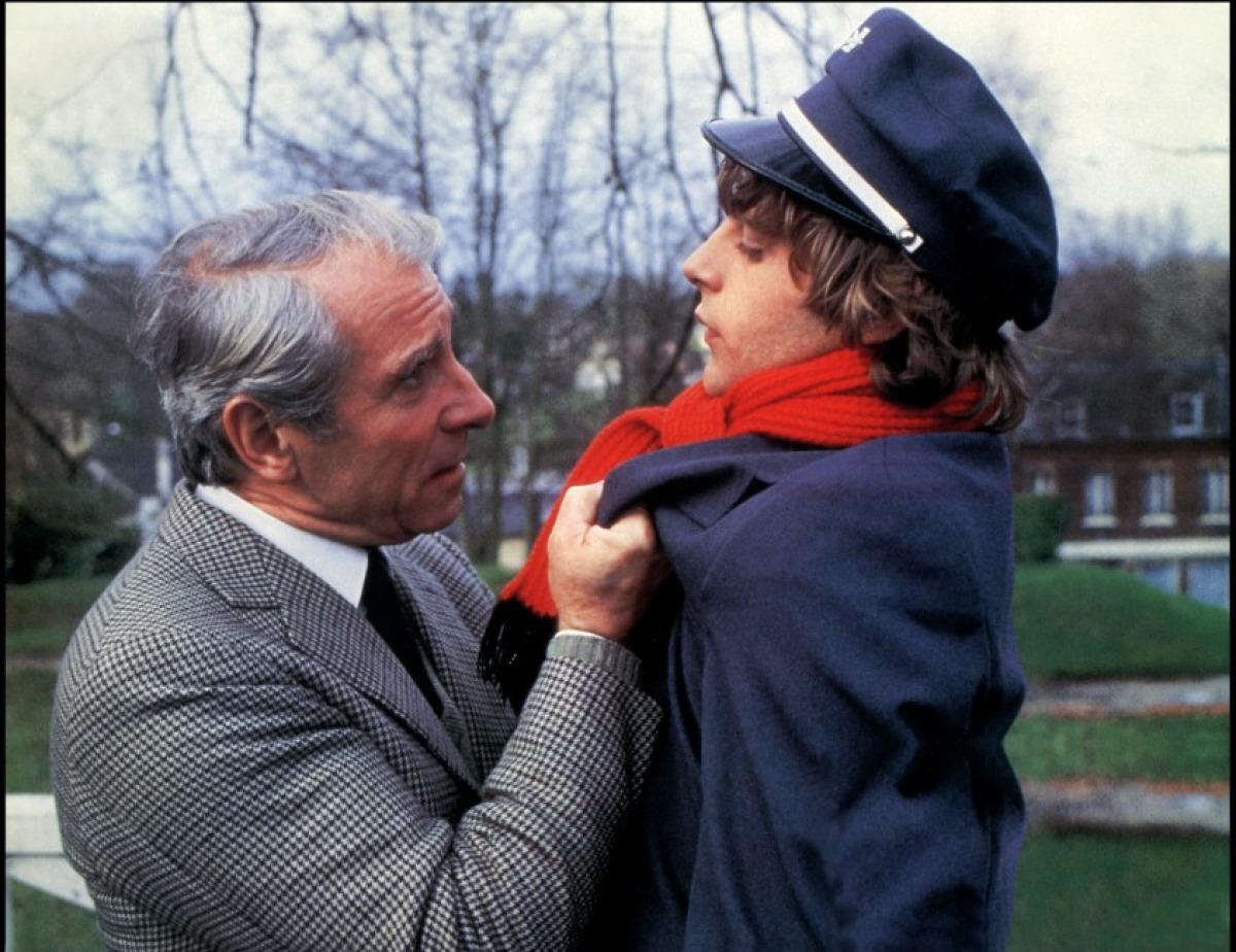 Jean Poiret et Lucas Belvaux dans Poulet au vinaigre