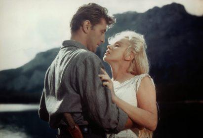Robert Mitchum et Marilyn Monroe dans Rivière sans retour de Otto Preminger