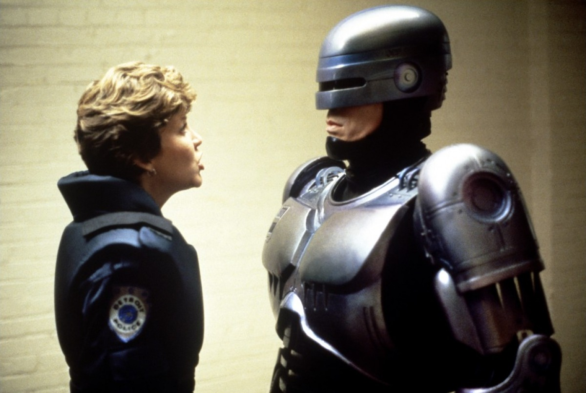 Nancy Allen et Peter Weller dans RoboCop de Paul Verhoeven