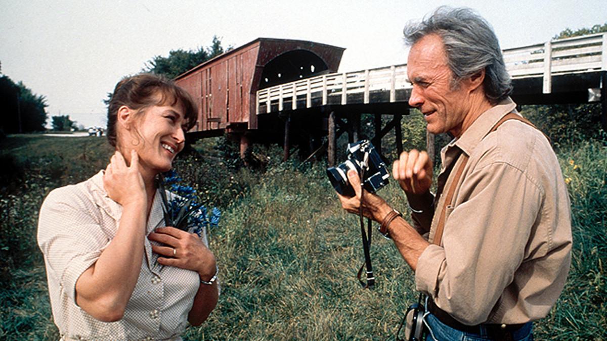 Mery Streep et Clint Eastwood dans Sur la route de Madison
