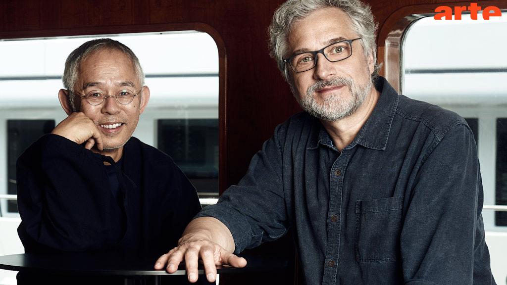 Toshio Suzuki (producteur) et Michael Dudok de Wit (réalisateur de La Tortue rouge)