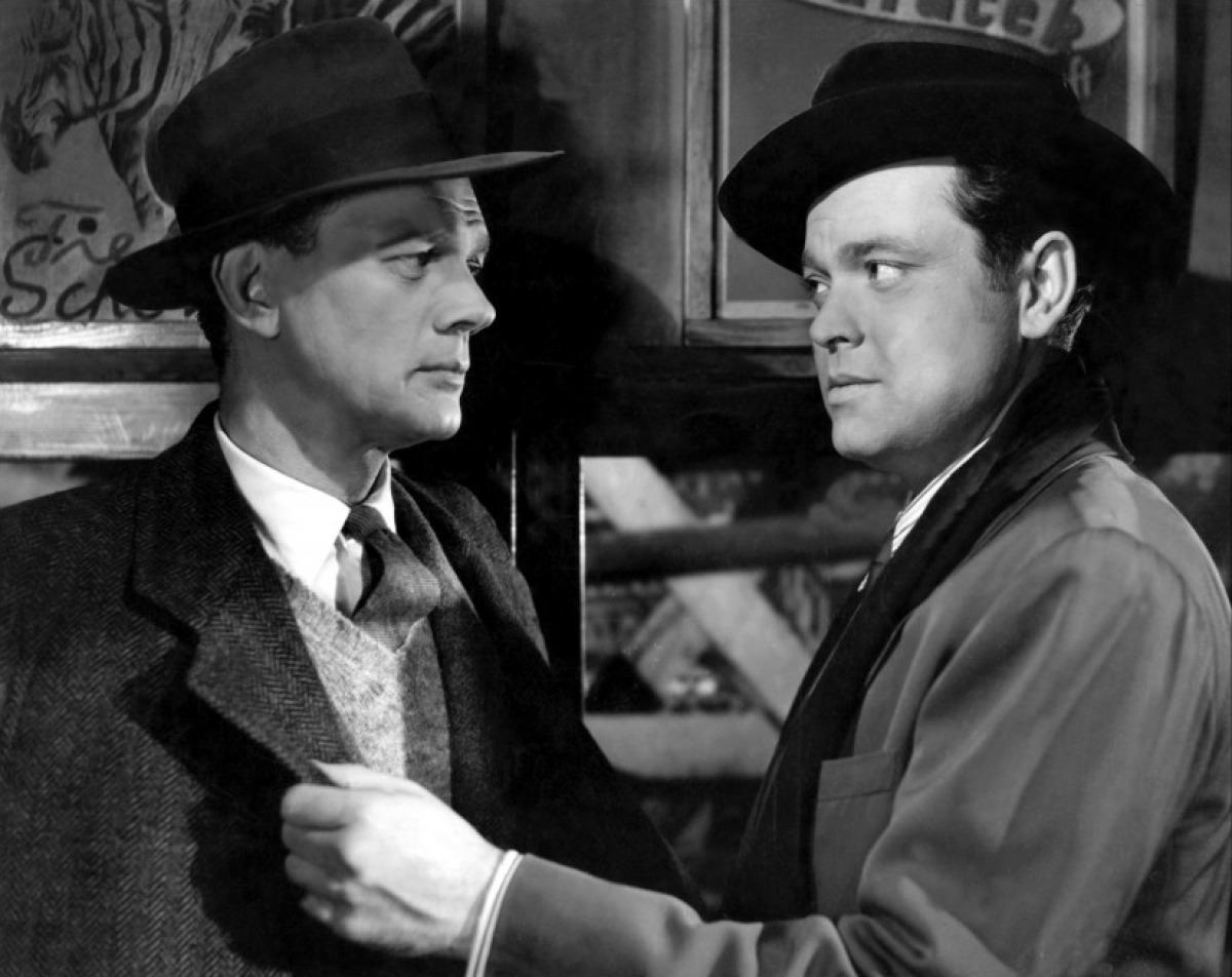Joseph Cotten et Orson Welles dans Le Troisième Homme de Carol Reed