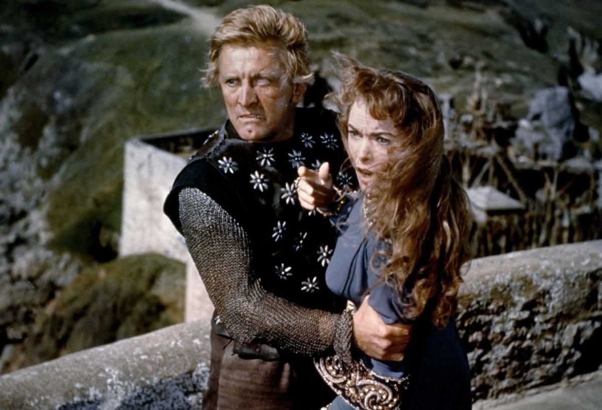 Kirk Douglas et Janet Leigh dans Les Vikings de Richard Fleischer