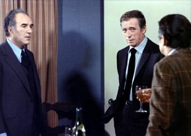 Michel Piccoli, Yves Montand et Serge Reggiani (de dos) dans Vincent, François, Paul et les autres